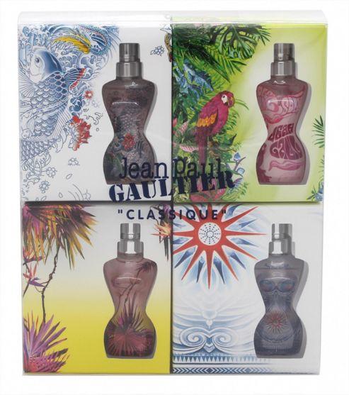 Jean Paul Gaultier Classique Summer Gift Set 4 x 3.5ml EDT Mini For Women