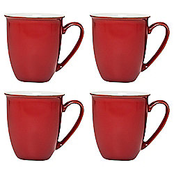 Set of 4 Denby Everyday Red Salsa Mugs
