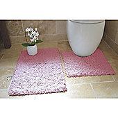 Rapport 2 Piece Bath Mat Set - Sweet pink