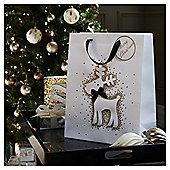Large Glitter Reindeer Christmas Gift Bag