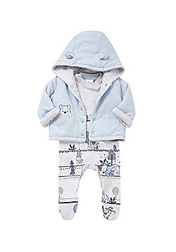 Disney Winnie and Piglet All in One and Hooded Jacket Set - Blue & Grey