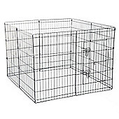 PawHut 8 Panel Pet Cage Playpen Dog Puppy Metal Cage Kennel Indoor Outdoor (42 In)