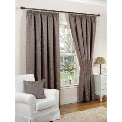 Hamilton McBride Monaco Lined Pencil Pleat Mink Curtains - 46x54 Inches (117x137cm)