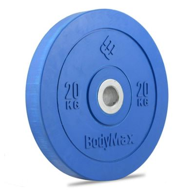 Bodymax Olympic Rubber Bumper Weight Disc Plate - Blue 20kg