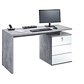 Maja 4056 9156 Victoria Desk Office Desk - Concrete/White