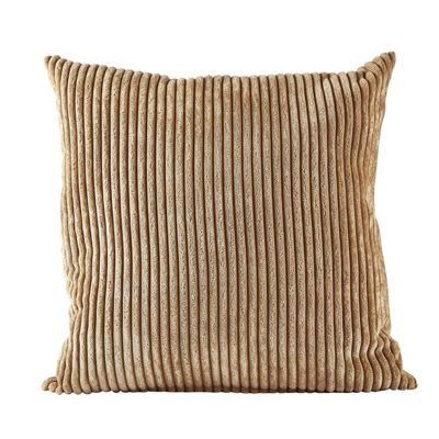 Villa Collection Velvet Look Cushion, Latte