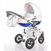 DaVos Moto Style Pure Leather 2 in1 Pram and Pushchair Blue