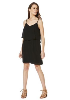 Only Double Layer Strappy Dress S Black