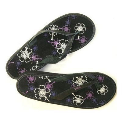 Vans Santa Rosa Wedge Black/Grapeade Womens Sandals