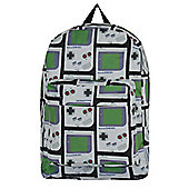 Nintendo Gameboy All Over Print Grey Backpack