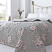 Catherine Lansfield Canterbury Grey Bedspread - 240x260cm