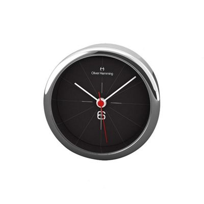 Oliver Hemming Alloy Desire Alarm Clock - Black - 8cm