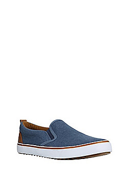 F&F Slip-On Canvas Shoes - Blue