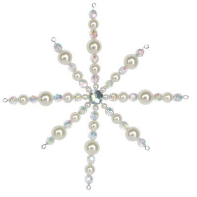Iridescent Beaded Star Christmas Decoration