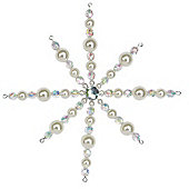 Iridescent Beaded Star Christmas Decoration