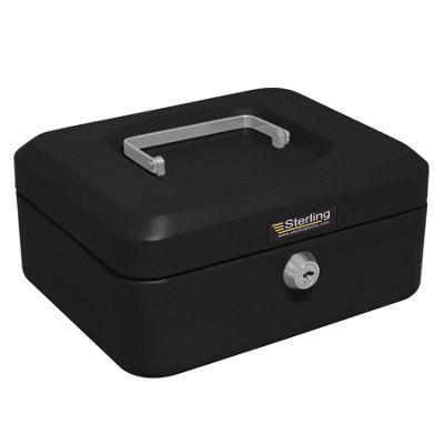 Sterling Black Metal Cash box - Medium