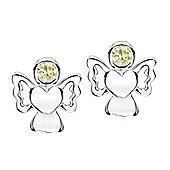 Jo For Girls August Birthstone Guardian Angel Stud Earrings