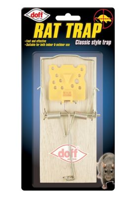 Doff Single Classic Style Wooden Rat Trap