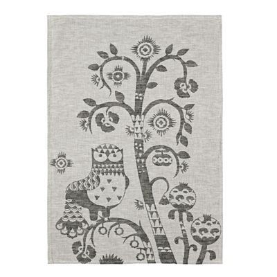 Iittala Taika Black Grey Tea Towel 43cm by 67cm