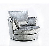 Rico Cuddle Chair Crushed Velvet Silver