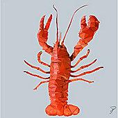 Birthday, Anniversary Greetings Card - Lobster Animal Design - Blank