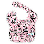 SuperBib Girls Pink Birdcages