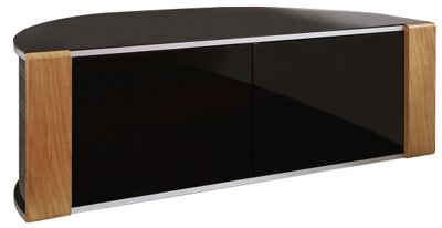 MDA Oak/Black Curved Cabinet for TVs up to 60 inch