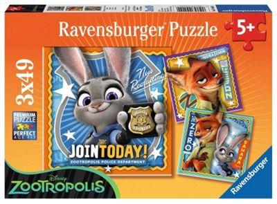 Zootropolis - 3 x 49pc Puzzle