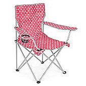 Trail Polka Dot Folding Festival Chair - Raspberry