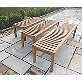 Teak Backless Garden Bench - 180cm