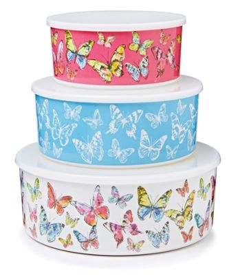 Buy Cooksmart Melamine Butterfly Storage Containers Set of 3 from