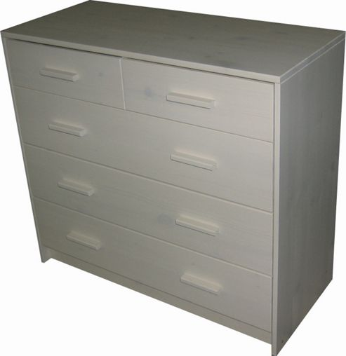 Oestergaard Connie 2 Over 3 Drawer Chest - White lacquered