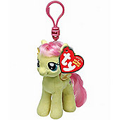 "TY Beanie 4"" Key Clip My Little Pony Fluttershy"