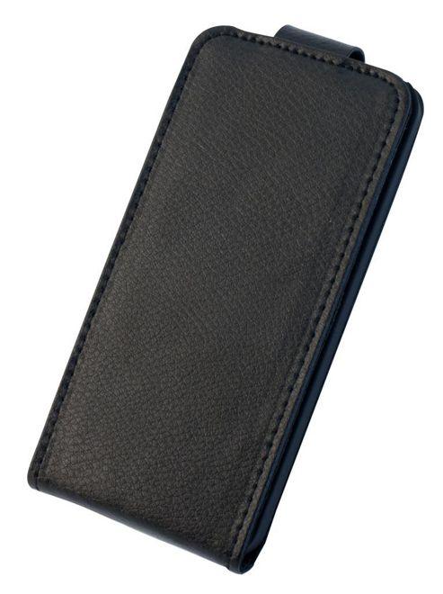 Tortoise™ Genuine Leather Flip Case iPhone 5 Black