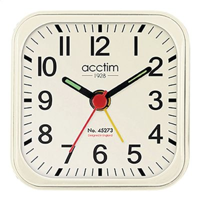 Acctim 14992 Malden Alarm Clock - Cream