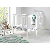 East Coast Nusery Carolina Space-Saving Cot White with Mattress