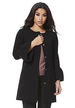 JDY Bell Sleeve Collarless Coat - Black