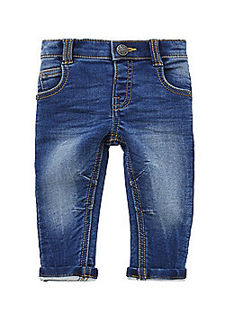 F&F Stretch Turn-Up Skinny Jeans - Blue