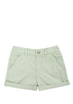 F&F Frill Trim Twill Shorts Mint 12-18 months
