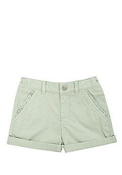 F&F Frill Trim Twill Shorts - Mint