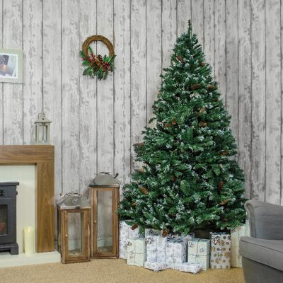 Jingles 8ft Estonian Pine Frosted Artificial Christmas Tree
