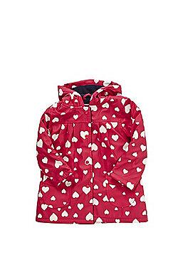 Minoti Heart Print Swing Raincoat - Pink