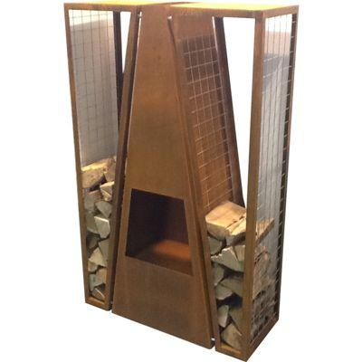 Gardenmaxx Maroa 145cm Fireplace - Corten