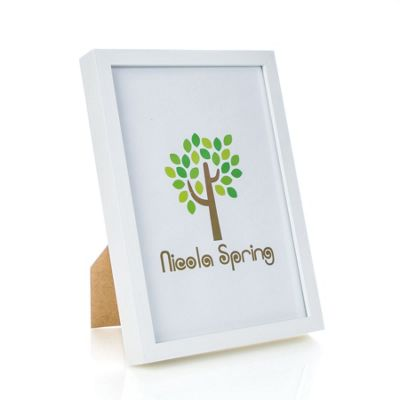 Nicola Spring Acrylic Box Photo Frame - White - 8 x 12