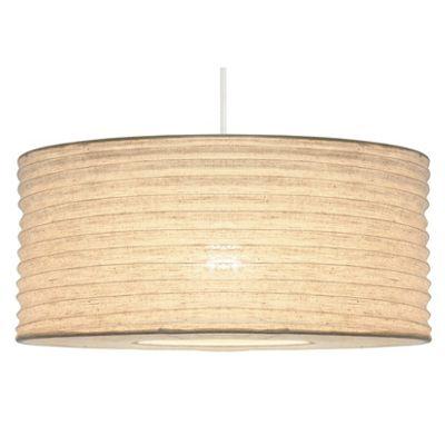 50cm White Jute Easy Fit Pendant