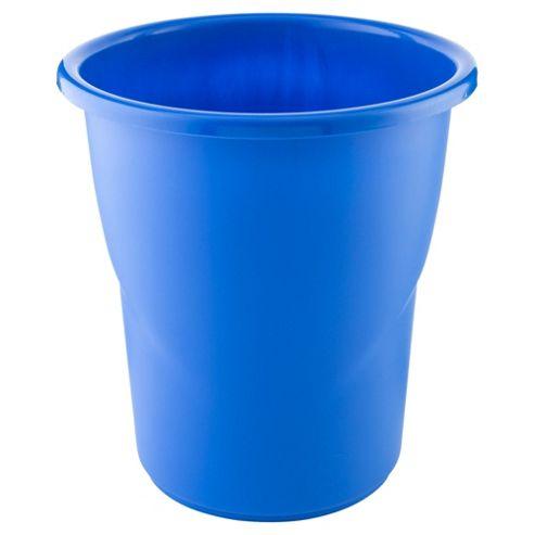Tesco Kids Plastic Bin, Blue