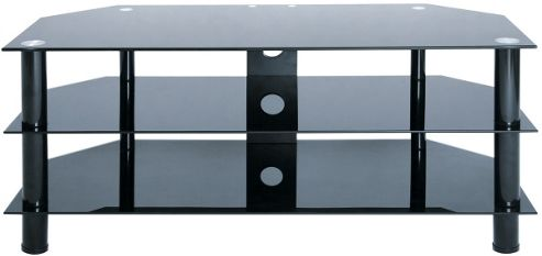 LEVV Universal Black TV Stand For up to 50 inch TVs
