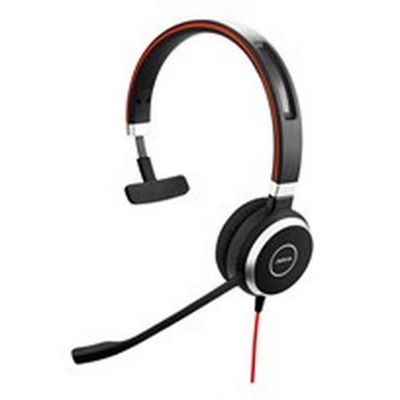 Jabra EVOLVE 40 Monaural Head-band Black Silver headset