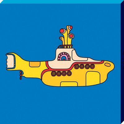 The Beatles Yellow Submarine Bold Canvas Print 30x30cm