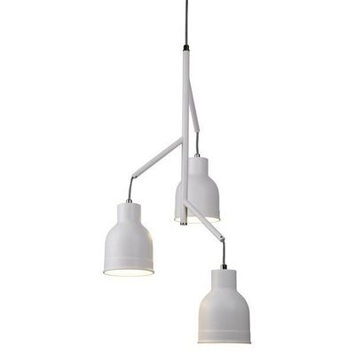 MIAMI 3 LIGHT CEILING MULTI-DROP, SANDED WHITE